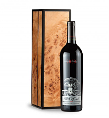 Wine Gift Boxes: Silver Oak Napa Valley 2008 Cabernet Sauvignon in Handcrafted Burlwood Box