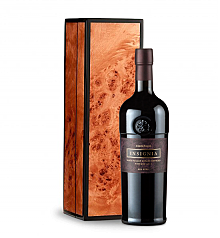 Wine Gift Boxes: Joseph Phelps Insignia Red 2010 in Handcrafted Burlwood Box