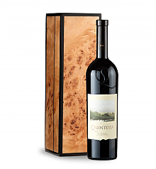 Wine Gift Boxes: Quintessa Meritage Red 2010 in Handcrafted Burlwood Box