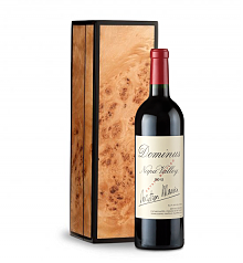 Wine Gift Boxes: Dominus Estate 2012 in Handcrafted Burlwood Box