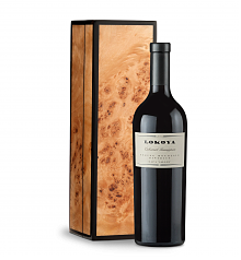 Wine Gift Boxes: Lokoya Spring Mountain Cabernet Sauvignon 2009 in a Handcrafted Burlwood Box