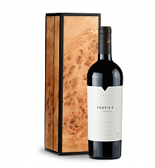 Wine Gift Boxes: Merryvale Profile 2012 in Handcrafted Burlwood Box