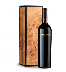 Wine Gift Boxes: Cardinale Cabernet Sauvignon 2012 in Handcrafted Burlwood Box