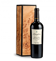 Wine Gift Boxes: Hourglass Blueline Estate Cabernet Sauvignon 2013 in Handcrafted Burlwood Box