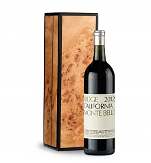 Wine Gift Boxes: Ridge Monte Bello 2012 in Handcrafted Burlwood Box