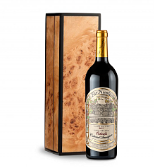Wine Gift Boxes: Far Niente Estate Bottled Cabernet Sauvignon 2012 in Handcrafted Burlwood Box