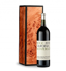 Wine Gift Boxes: Ridge Monte Bello 2011 in Handcrafted Burlwood Box