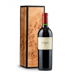 Wine Gift Boxes: Handcrafted Burlwood Box with Colgin Cariad Red Blend 2011