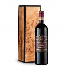 Wine Gift Boxes: Leonetti Reserve Merlot 2008 in Handcrafted Burlwood Box