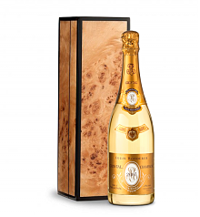 Wine Gift Boxes: Louis Roederer Cristal Brut 2007 in Handcrafted Burlwood Box