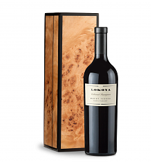 Wine Gift Boxes: Lokoya Mt. Veeder Cabernet Sauvignon 2011 in a Handcrafted Burlwood Box