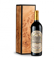 Wine Gift Boxes: Far Niente Estate Bottled Cabernet Sauvignon 2014 in Handcrafted Burlwood Box