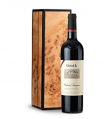 Wine Gift Boxes: Groth Reserve Cabernet Sauvignon 2013 in Handcrafted Burlwood Box