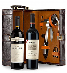 Wine Totes & Carriers: Beringer Private Reserve Cabernet Sauvignon 2009 and Groth Reserve Cabernet Sauvignon 2009 Connoisseur's Collection