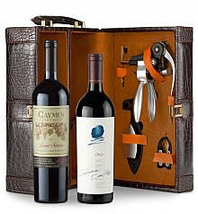 Wine Totes & Carriers:  Caymus Special Selection Cabernet Sauvignon 2011 and Opus One 2011 Connoisseur's Collection