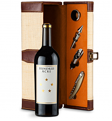 Wine Totes & Carriers: Hundred Acre Ark Vineyard Cabernet Sauvignon 2013 Wine Steward Luxury Caddy