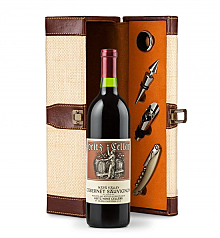 Wine Totes & Carriers: Heitz Cellars Napa Valley Cabernet 2011 Wine Steward Luxury Caddy